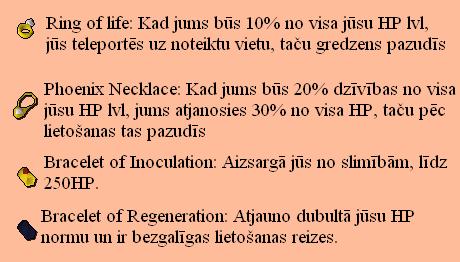 Runescape dārglietas, kuras saistītas ar HP